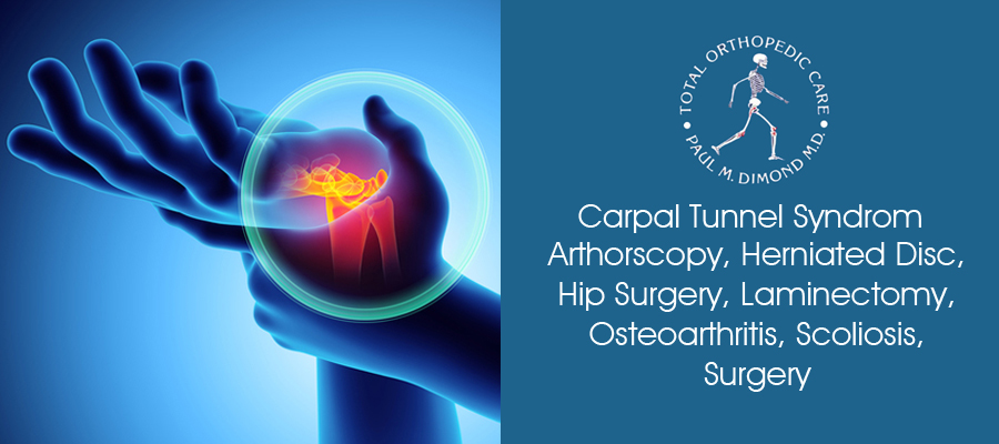 Carpal Tunnel Syndrome, Arthorscopy, Herniated Disc, Hip Surgery, Laminatectomy, Osteoarthritis, Scoliosis, Surgery